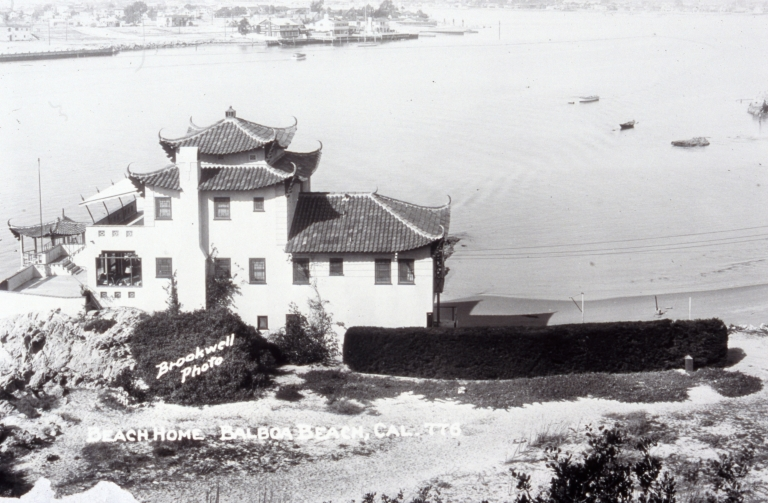 A view of China House from the Corona del Mar Bluffs.