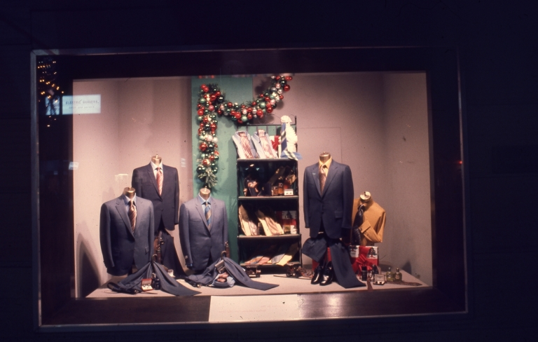 Buffums Menswear Display Window