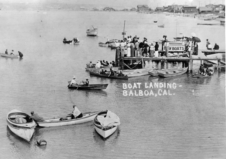 Boatlanding at Balboa (approximately 1 block east of the Pavilion)