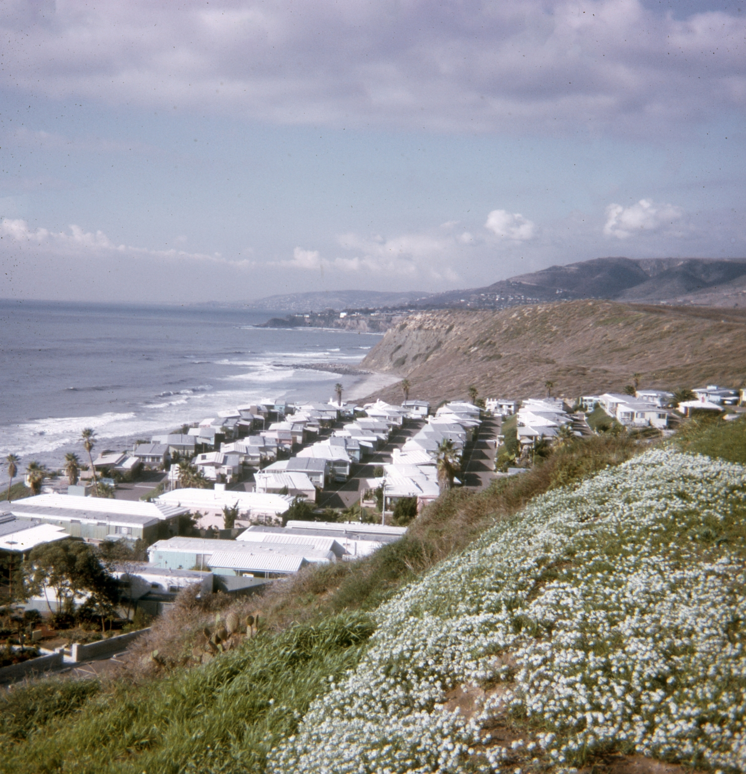 A view from a hillside overlooking the Dana Strand Club.