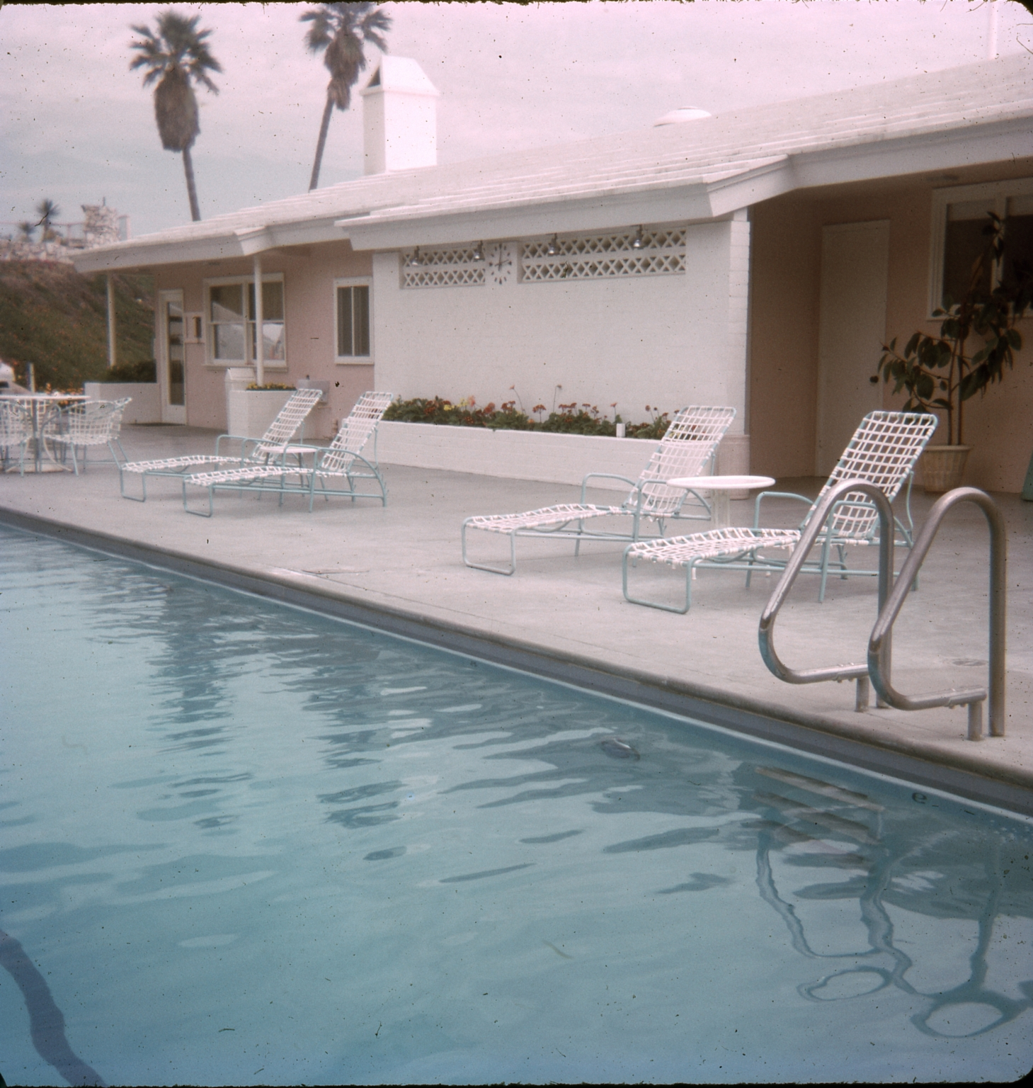The swimming pool at the Dana Strand Club.